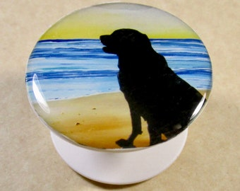 Labrador Retriever Phone Grip, Lab Phone Holder, Lab Phone Stand, Black Lab Gifts, Yellow Lab Gifts, Chocolate Lab Gifts