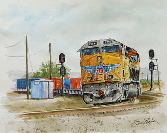 """Union Pacific 8226 - archival giclee art print 8"""" x 10"""". FREE SHIPPING"""