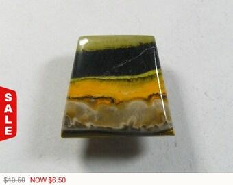 40% OFF Sale - Bumble Bee Jasper Cabochon, 20x18x5 mm, designer cabochon, gemstone cabochons, flat back cabochons, natural stone cabochons (