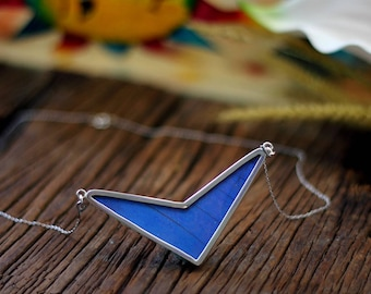 Real butterfly necklace Butterfly wing necklace Gift for women Insect jewelry Chevron necklace Taxidermy jewelry Butterfly gift Entomology