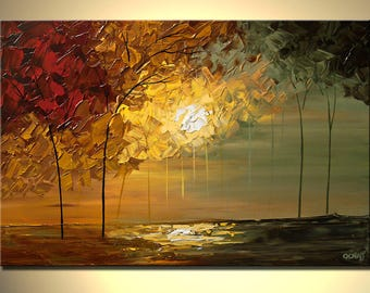 Canvas Art - Stretched, Embellished & Ready-to-Hang Print - September - Art by Osnat