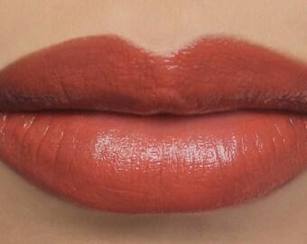 """Vegan Lipstick - """"Flamingo"""" (semi-sheer coral mineral lipstick tint) natural lipstick balm, lip colour"""