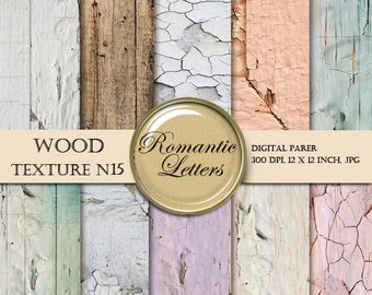 Sale 60% Wood Digital Paper pack Wood texture Scrapbook background paper Wedding and newborn digital photography backdrop Shabby Chic wood b