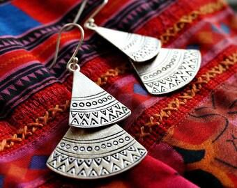 Lulia Sterling Silver Earrings Statement Boho Earrings