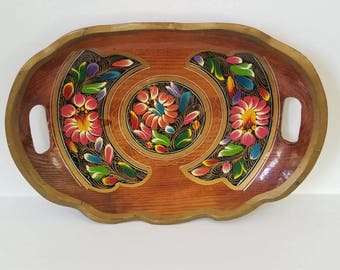Painted Wood Platter