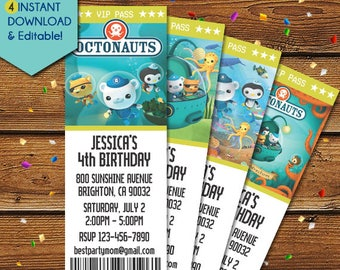 Octonauts Invitation, Octonauts Birthday Invitation, Octonauts Party Invitation, Octonauts Invitation Printable, Octonauts Invite, Card