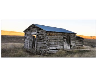 Western Wall Art 'The Log House' by Slade Reiter - American West Decor Country Rustic Photography on Metal or Plexiglass