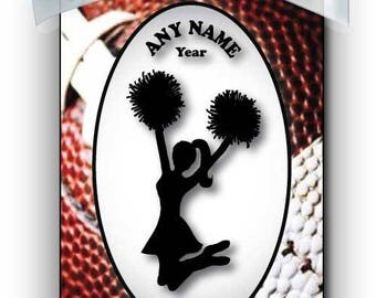 Cheerleader Jumping Silhouette Personalized Ornament