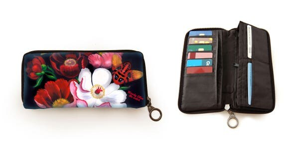 Retro wallet, vintage wallet, Glorious, gift for her, gift mom, Woody Ellen bag, valentine gift, christmas gift ideas, floral print wallet