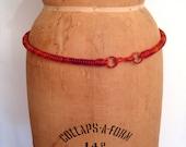 1950s 1960s tortoise shell coil belt • 50s 60s amber telephone cord belt • vintage mid-century novelty belt