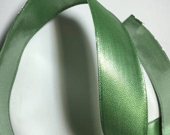 Ribbon By the Yard  Wired Green