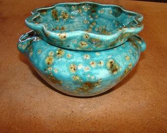 Ceramic Ruffle Planter