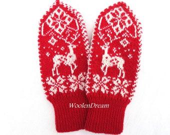 Merino wool mittens,wool mittens,warm winter glove,Scandinavian womens mittens,snowflake arm warmers,winter fashion accessory,Christmas gift