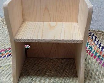 Montessori Cube Chair / Wood cube Chair / Preschool Cube Chair / Toddler Chair / Children Chair