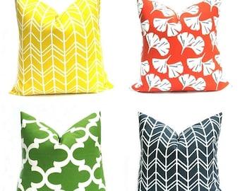 15% Off Sale Outdoor Pillow Euro Pillow  Cover Outdoor Pillow Yellow Pillow Euro Sham Orange Pillow Indoor  Outdoor Decor Outdoor Pillows Ye