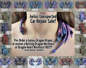 Galaxy Dragon Draper Necklace - With FREE Bonus Necklace - Custom Made PRE-ORDER Shipping in 4-6 Weeks