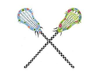 Girls Lacrosse Print