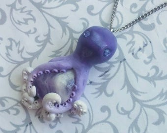 Amethyst Octopus Necklace