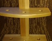Hickory  Lazy Kate for Drop Spindle/ drop spindle display stand