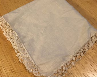 Lace Edged Bridal Handkerchief