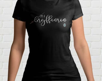 I'm A GRYFFINRIN Ladies T-Shirt - Mixed HOGWARTS HOUSE Harry Potter Gift