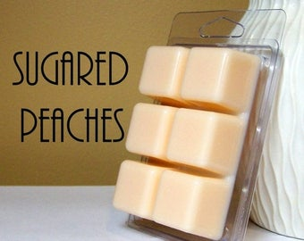 ON SALE - Sugared Peaches Scented Wax Tarts