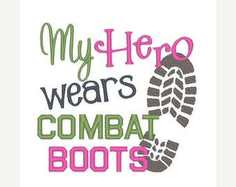 25% OFF Hero Wears Combat Boots Embroidery Design - Instant Download