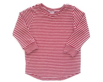 Striped Double Knit Tee 6m-6/7y. www.brownsugarbeach.com