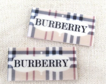 Burberry Cabochons 10 Flatback Resin