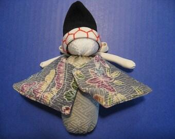 Sanbaso,Japanese Silk Kimono fabric,Chirimen Zaiku No.1