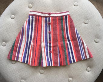 Girls Striped Skirt sz 6/7