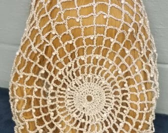 "Cinderella Snood Pattern - Beaded Alternating Rows in Metallic Combination thread-Long 10"" Length"