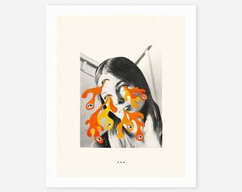 LSD (Giclée Fine Art Print/Photo Print/Poster Print) Surreal Collage by Jazzberry Blue