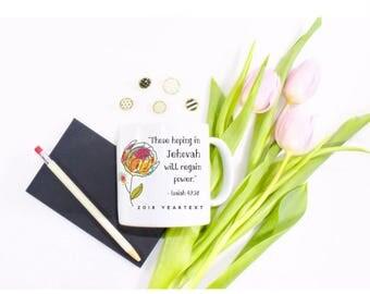2018 Yeartext Colorful Peony Mug