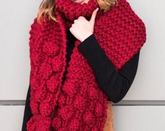 Handknitted Winter Wool Oversized Scarf