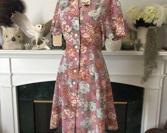 80s Floral Grunge Summer Dress