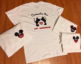 Disney shirts // Anniversary shirts // Couple shirts // Mickey shirt // Minnie shirt // Custom Disney shirt