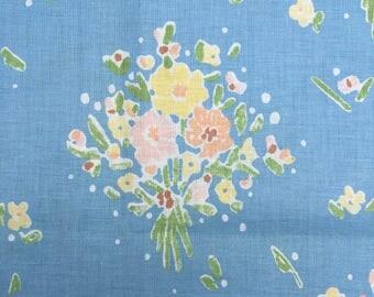Bob Van Allen Design Fabric, Floral Fabric, Retro, Pretty Bouquets, Difficult to Find