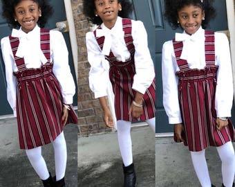 Custom bow blouse for girls