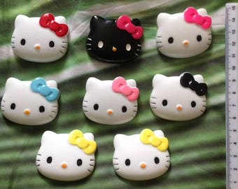 Large Hello Kitty Resin Cabochon