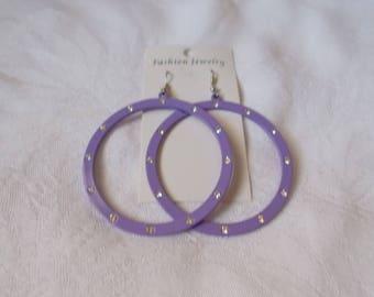 Huge Purple Hoops- R3841