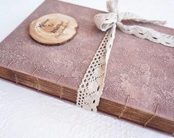 Rustic Wedding Guest Book, Rustic Photo album, Personalized Wedding guest book , Custom Wedding Photo Booth album
