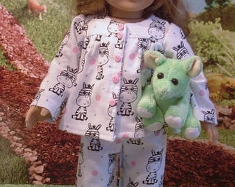 Little Zebras Pajama Set with Stuffed Aardvark