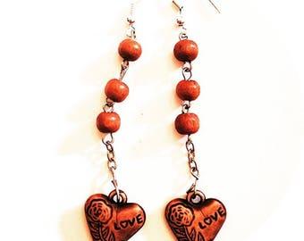 Love bead earrings
