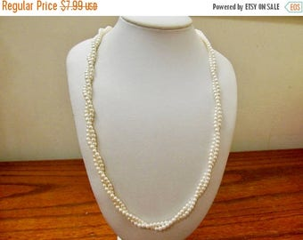 On Sale Vintage Long Double Strand Faux Pearl Necklace Item K # 880