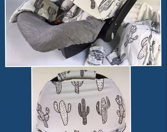 Baby Car Seat Cover Canopy Headrest Blanket Hat Nursing Scarf 9pc baby girl baby boy ultimate set