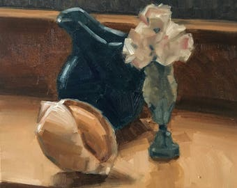 Pitcher, Flowers and Seashell