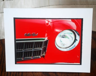 photo card, greeting card, classic car photograph