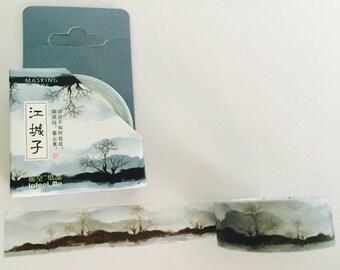 Gray Landscape Washi Tape