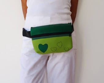 Green Waist Bag, Neoprene Travel Waist Bag, Waterproof Hip Bag, Waterproof Bags, Neoprene Belt Bag, Children Waist Bag, Waist, Fanny Packs